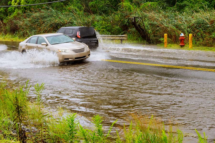 Dangers of Vehicle Storm Damage and Driving Through Flood Waters